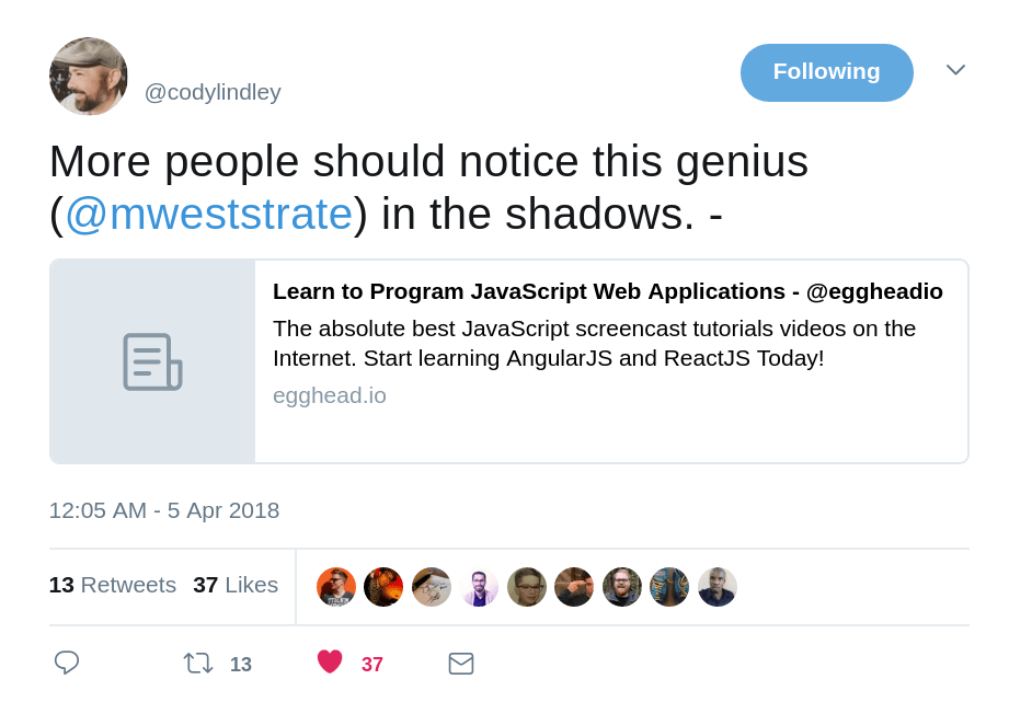 More people should notice this genius in the shadows
